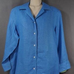 Lauren Ralph Lauren 3/4 Sleeve 100% Linen